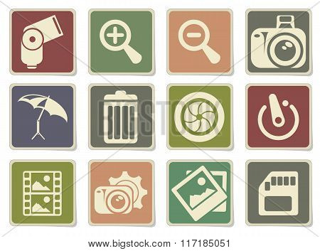Photography Silhouette Icons