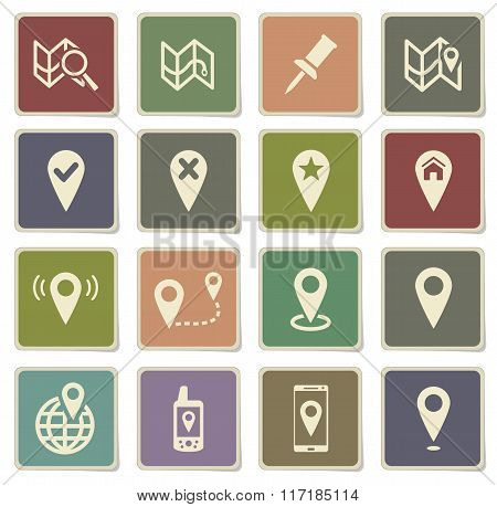 Pointer and maps simply icons