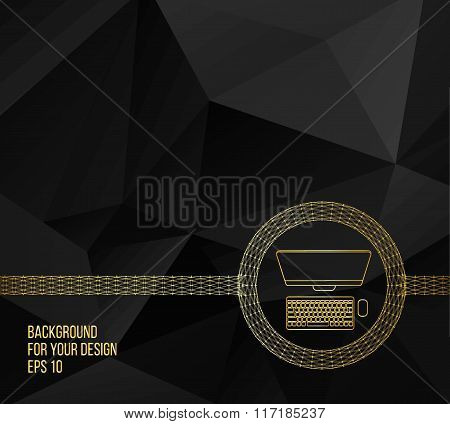 Abstract Creative concept vector background. Line icons flat design elements. Modern vector Illustra