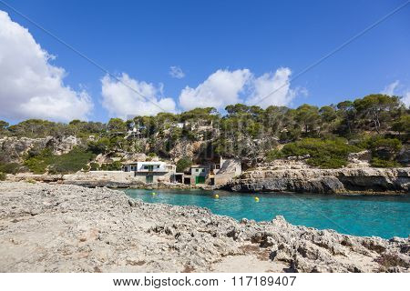 Beautiful beach with turquoise sea water in Mallorca island, Spain