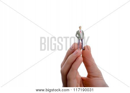 Figurine Model Men In Hand
