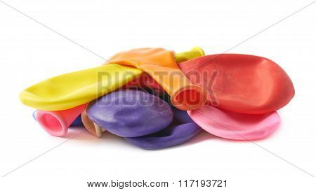 Pile of multiple air balloons isolated