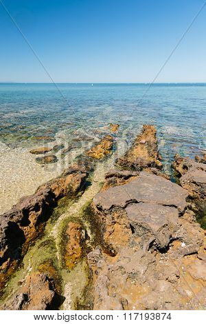 Coastal Rock Formations In Melbourne