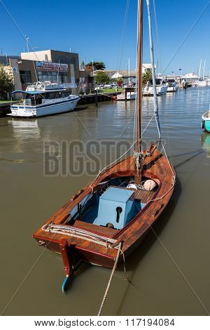Vintage Wooden Sailboat
