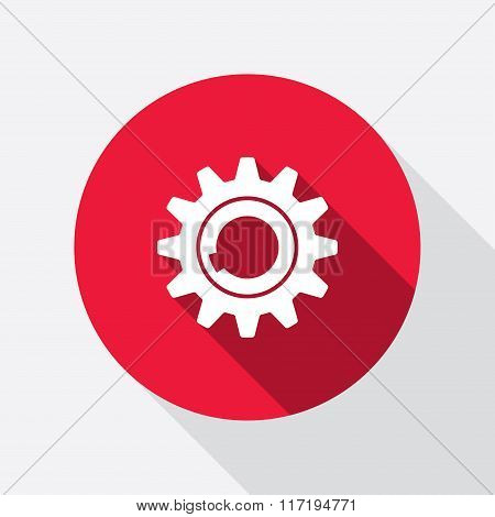 Gear icon. Cogwheel symbol.