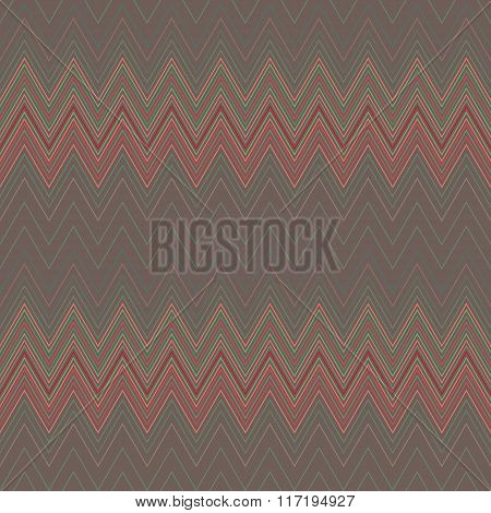 Seamless geometric striped pattern. Stripy background. Zig-zag line lace texture. Brown, red colored