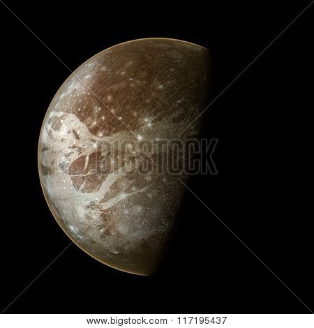 Ganymede Planet Isolated Elements Of This Image Furnished By Nasa