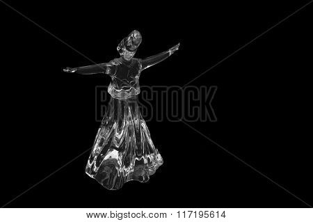 Whirling Dervish Isolated On Black Background