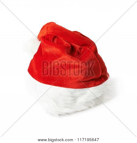 Red Santa's hat isolated