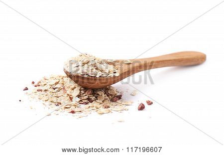 Pile of oatmeal groats isolated