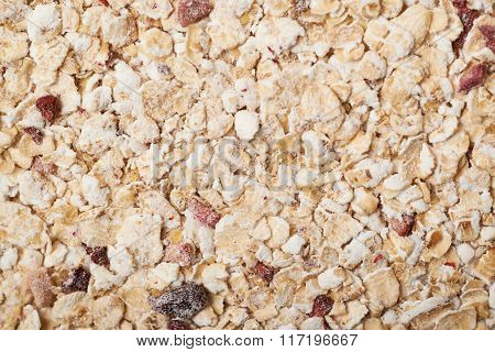 Surface covered with the oatmeal