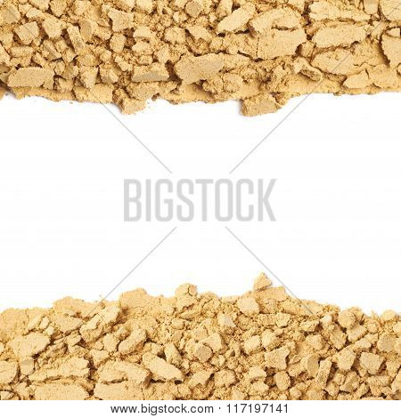Ginger powder background composition