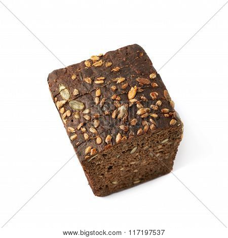 Sliced loaf of bread isolated
