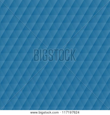 Abstract Blue Geometric Hexagons Pattern Background