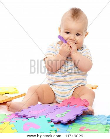 Little Boy With Alphabet