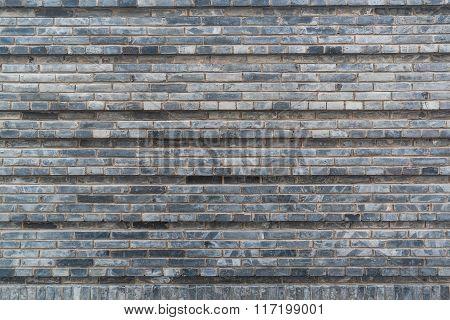 Chinese Style Gray Brick Wall