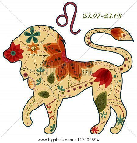 Leo zodiac sign retro