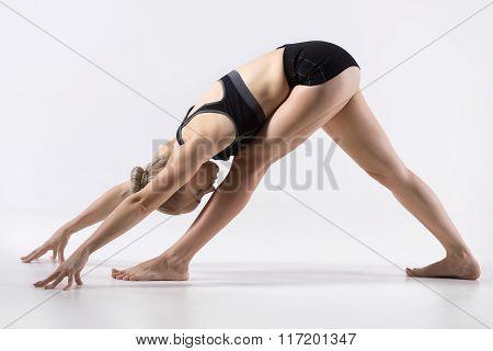 One Sided Fold Pose