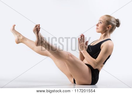 Wide-legged Boat Pose