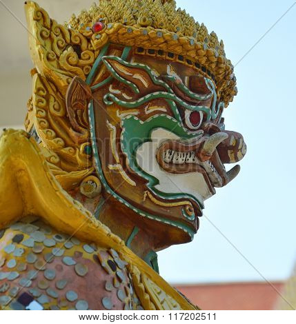 giant in Buddhist temple Thai called Yak