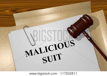 Malicious Suit Concept