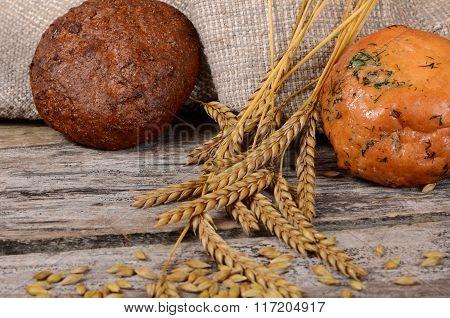 Fresh Bread With Ears A Rye