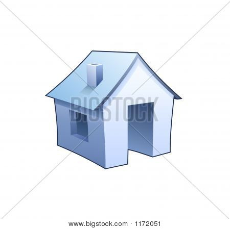 Internet Homepage Symbol - Detailed Icon Of Blue House