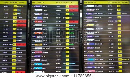 Table Airline Arrivals