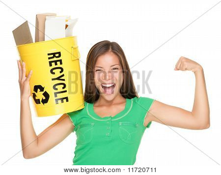 Recycling Woman Concept