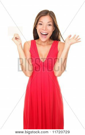 Gift Card Woman In Red Dress