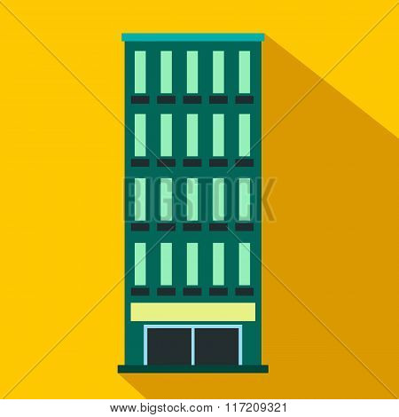 Modern building flat icon
