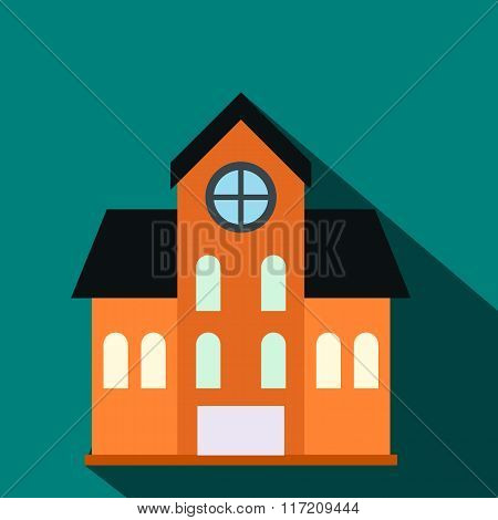 House with a mansard flat icon