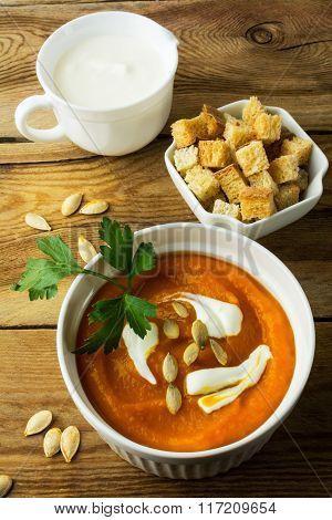 Pumpkin Squash Cream Soup
