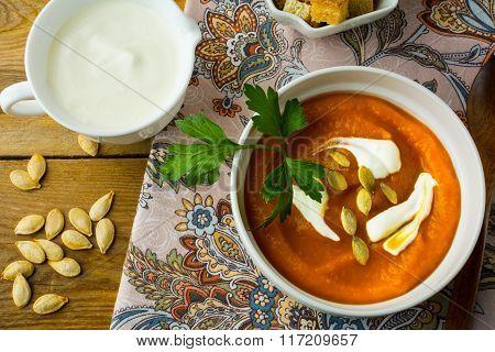 Spicy Pumpkin Cream Soup