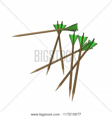 Arrows With Green Feathers