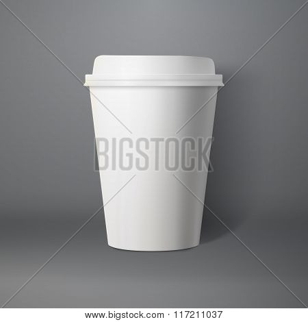 Vector Coffee Cup. Photorealistic 3D Vector EPS10 Paper Coffee C
