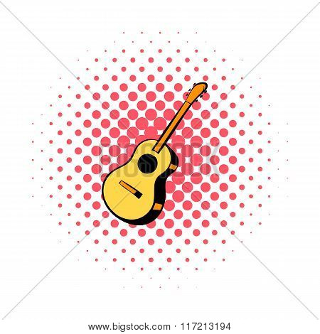 Acoustic guitar comics icon