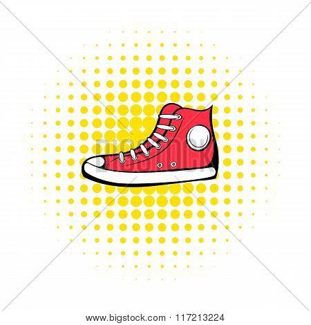 Red sneaker comics icon