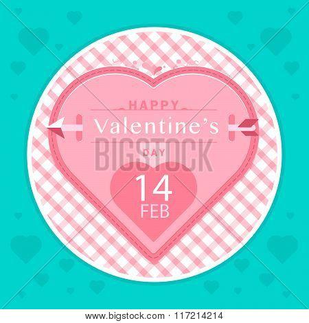 Logo Valentine's Day, Banner. Vector Stock.