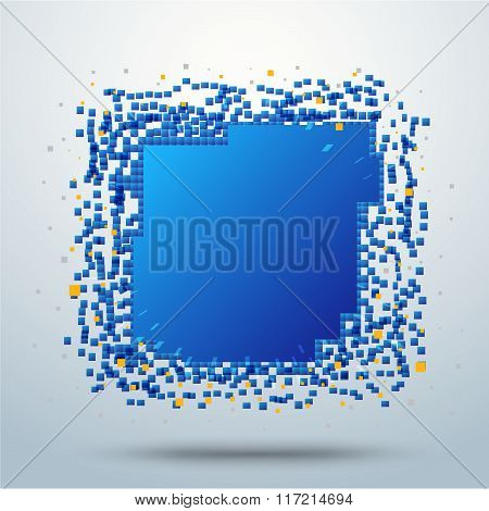 Rectangle Pixel Movement Background.