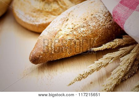 Homemade Whole Wheat And Grains Bread