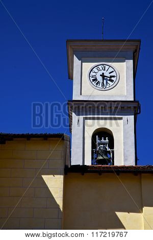 Varese Italy   The Old Wall Terrace Church Watch Bell Clock Tower