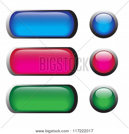 Vector Glossy Button Icons
