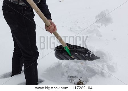a guy with a shovel