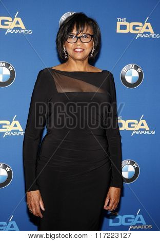 Cheryl Boone Isaacs at the 68th Annual Directors Guild Of America Awards held at the Hyatt Regency Century Plaza in Los Angeles, USA on February 6, 2016.