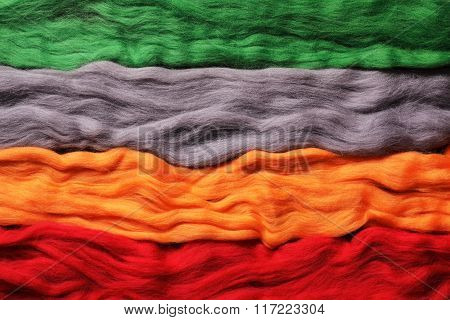 Background From Wool. Different Colours