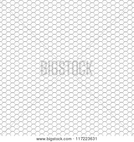 Seamless pattern of the hexagonal mesh.