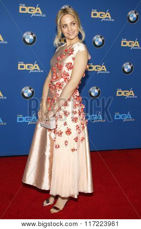 Mena Suvari at the 68th Annual Directors Guild Of America Awards held at the Hyatt Regency Century Plaza in Los Angeles, USA on February 6, 2016.