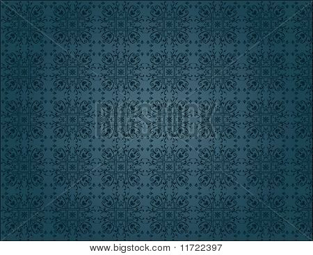 Elegant Blue Vintage Seamless Wallpaper