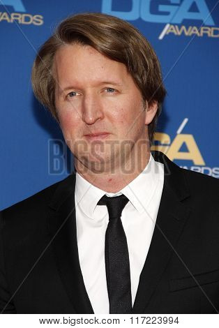 Tom Hooper at the 68th Annual Directors Guild Of America Awards held at the Hyatt Regency Century Plaza in Los Angeles, USA on February 6, 2016.